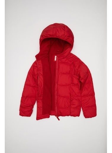 DeFacto Kız Çocuk Kapüşonlu Şişme Mont Kırmızı